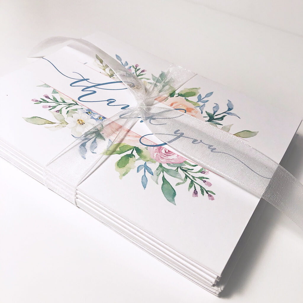 Watercolour thank you cards