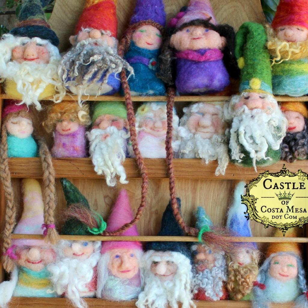 1736 150608 square cropped Handmade finger puppet gnomes on shelf