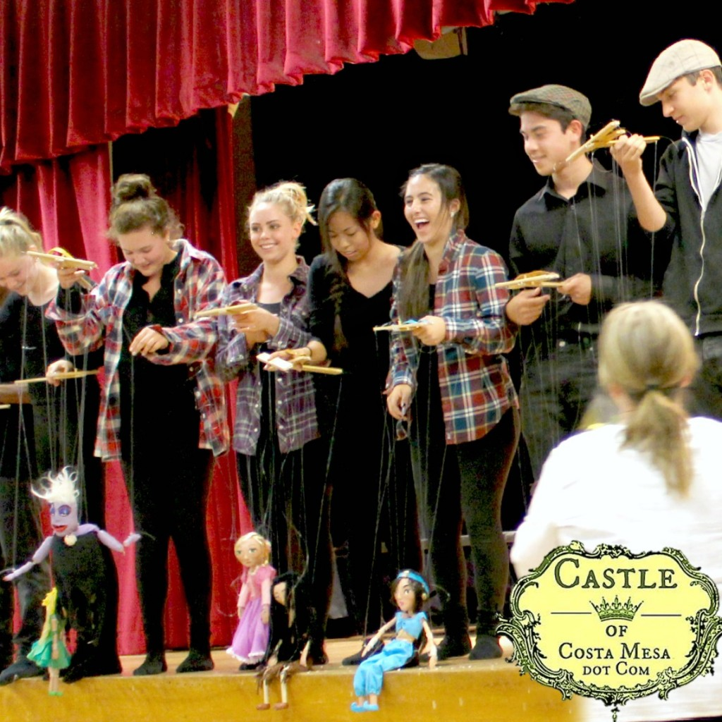 1796 150613 WSOC 9th Grade Marionette Show laughing puppeteer 3