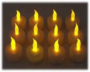 Flickering flameless led tea light candles for puppet show