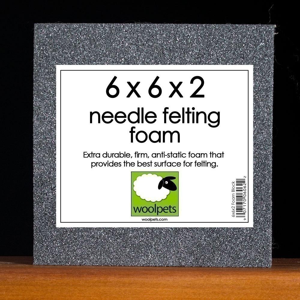 1212 Woolpets on Etsy.com 6x6x2 Needle Felting Foam Pad