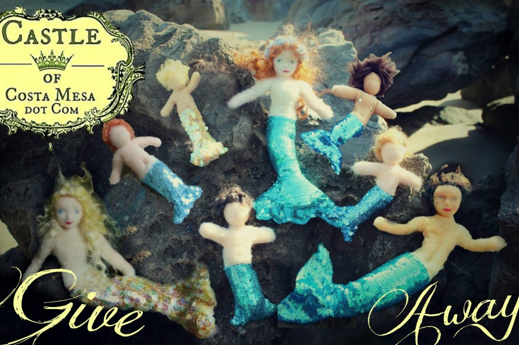 130919 Vintage heirlom handmade giveaway. Catch your mermaid before she swims away!