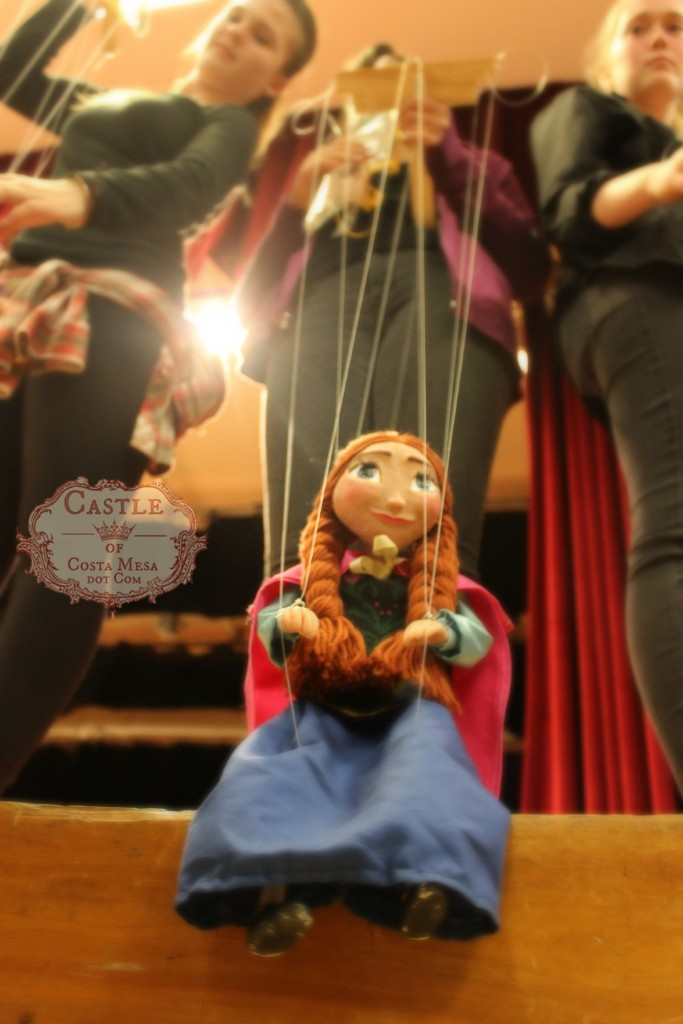 1817 150613 WSOC 9th Grade Marionette Show Witch string puppet Anna from Frozen