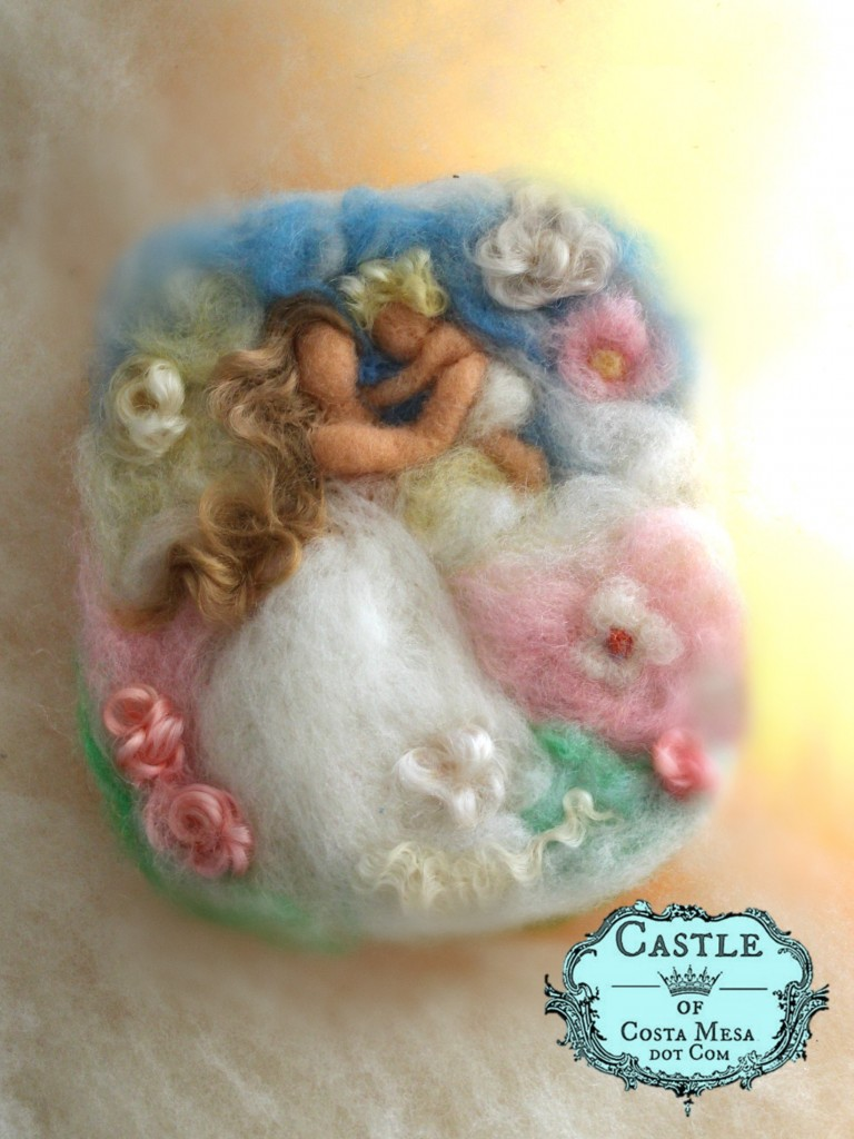 4308 151130 Bliss - Mother swinging baby in vintage colors Castle of Costa Mesa