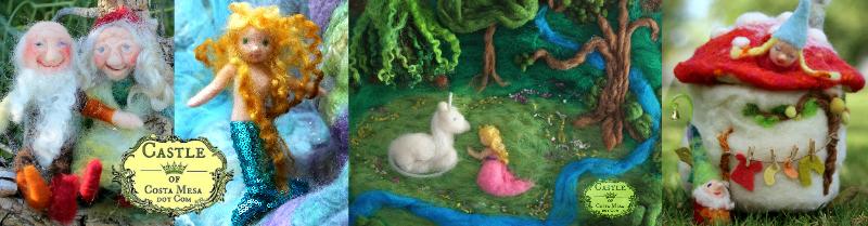 160229 Castle of Costa Mesa loving gnome couple sweet mermaid daisy unicorn toadstool L