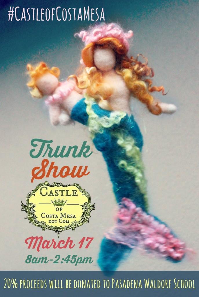 4717 160229 Mermaid mother and merbaby poster Pasadena Waldorf trunk show