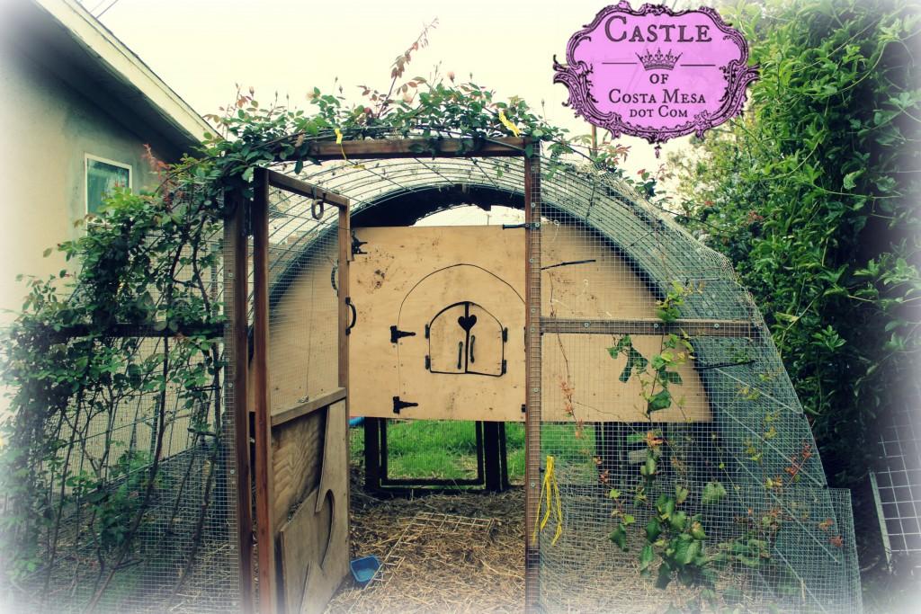 180402 DIY Chicken coop hen house internal door 9467