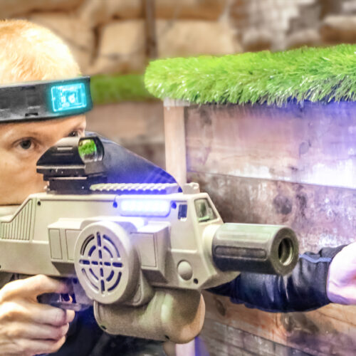 Laser Tag Player respawning using Utility Box at birthday party