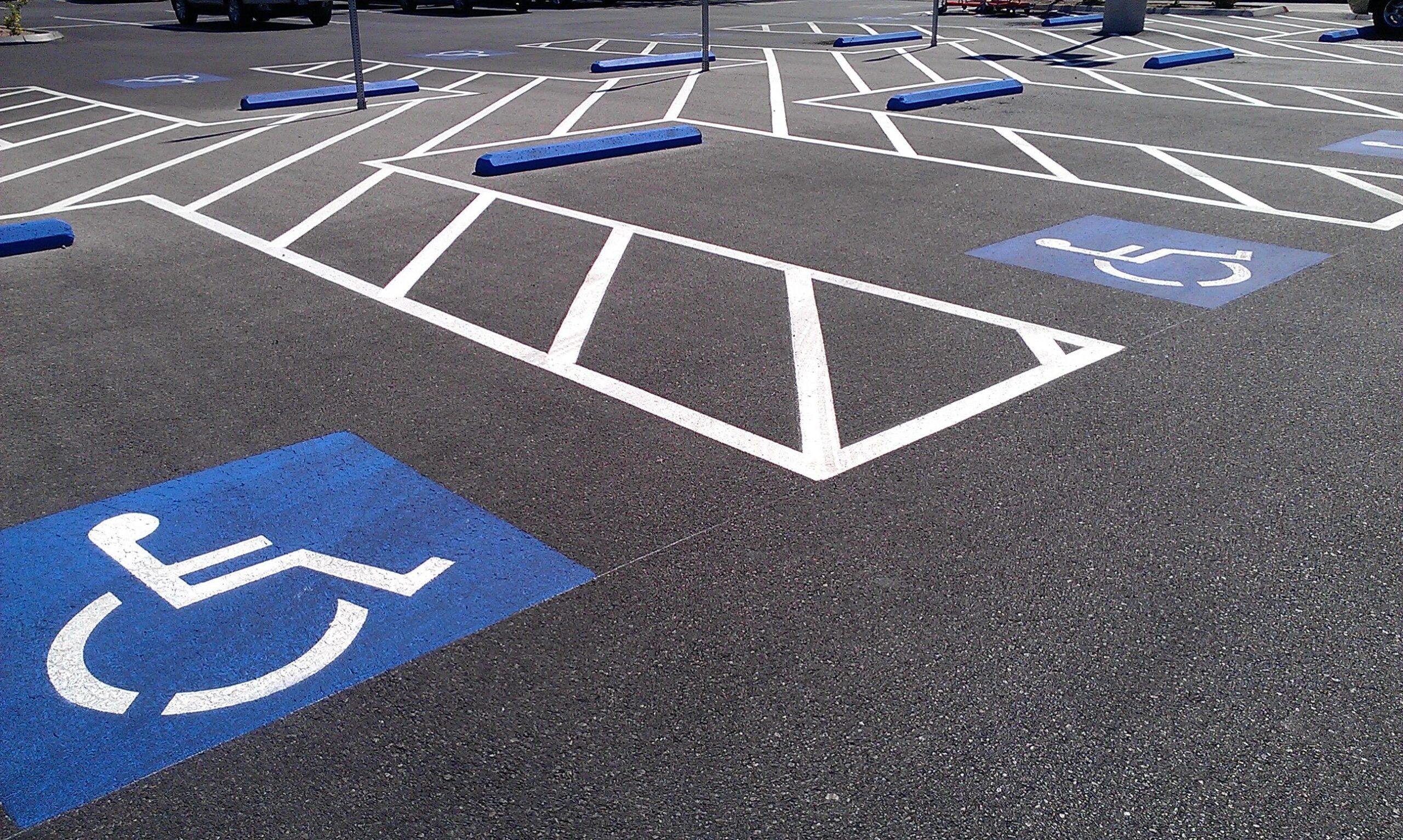 2. Parking lot striping