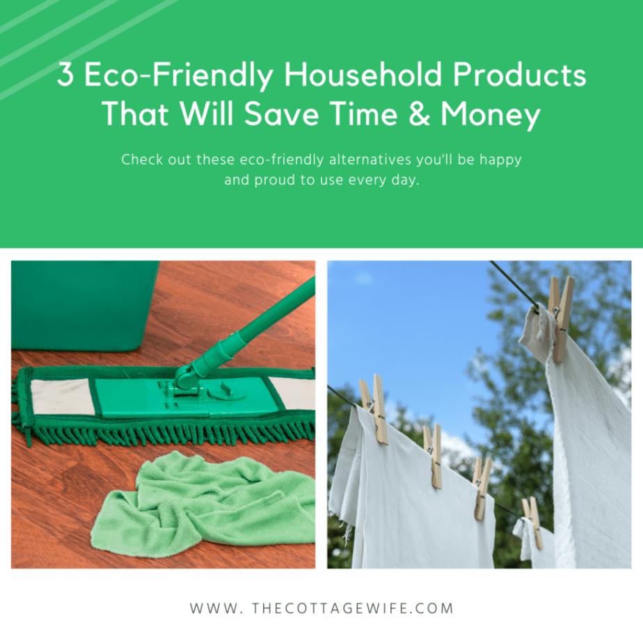 3 Eco-Firendly Household Products that will save time and money