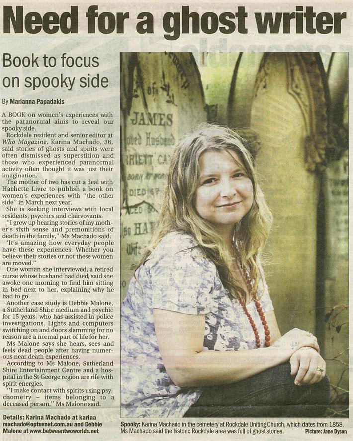 Karina Machado article in the Leader newspaper