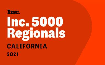 Polaris Home Care Selected No. 40 on Inc. 5000 California Regionals List