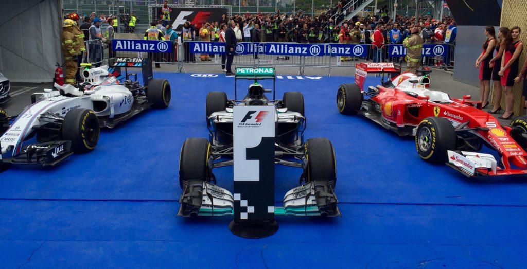 2016 Canadian Grand Prix, Lewis Hamilton 1st, Sebastian Vettel 2nd, Valtteri Bottas 3rd