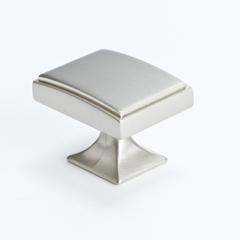Rectangular Brushed Nickel Knob