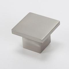 Square Brushed Nickel Knob