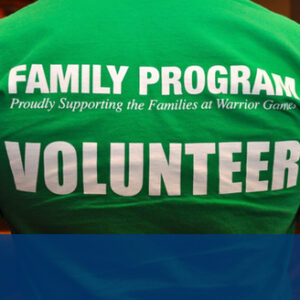 Volunteer at the 2020 Warrior Games Family Program with Fisher House Foundation