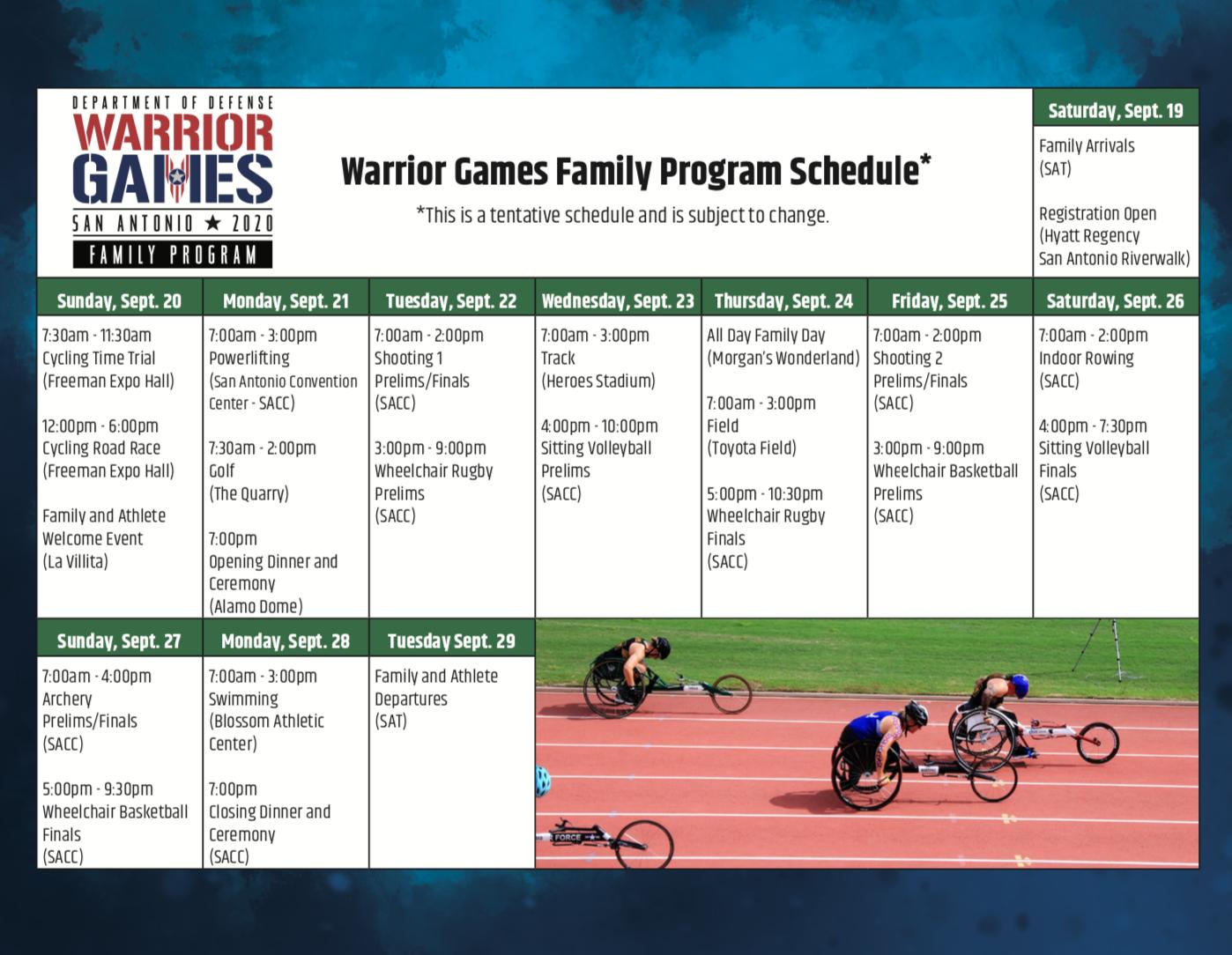 2020-Warrior-Games-Schedule-at-a-Glance