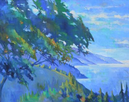 Oak Tree at Nepenthe, Spring Morning - Fine Art Print