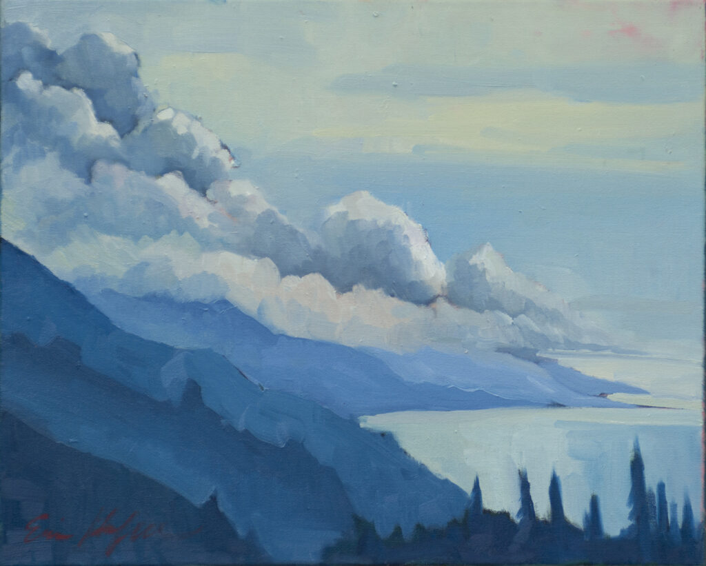 Clouds Over Nepenthe by Erin Lee Gafill