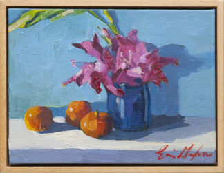 Gladiolus in Cobalt Jar by Erin Lee Gafill