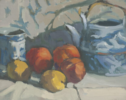 Lolly's Teapot with Fruit by Erin Lee Gafill