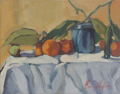 Cobalt Jar with Tangerines by Erin Lee Gafill