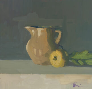 Milk Pitcher with Lemon I by Erin Lee Gafill
