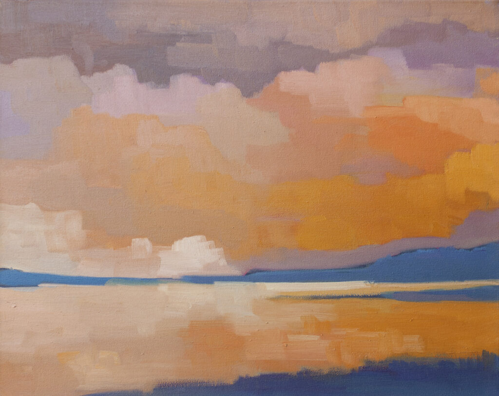 Water's Edge, Dusk by Erin Lee Gafill