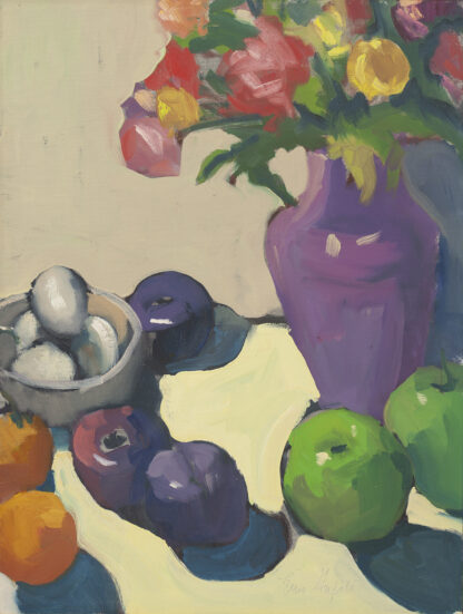 Kitchen Still Life with Purple Vase by Erin Lee Gafill