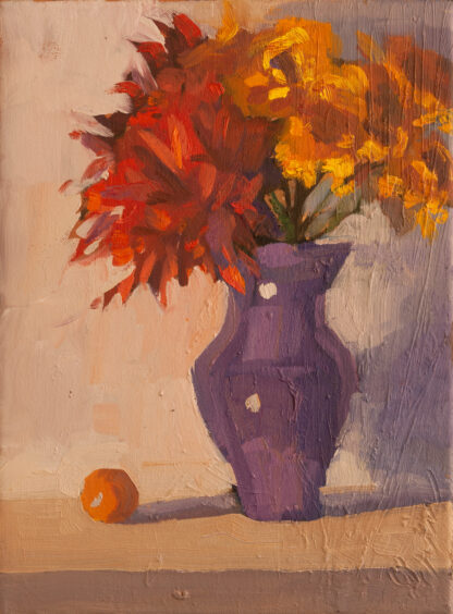 Bouquet with Tangerine by Erin Lee Gafill