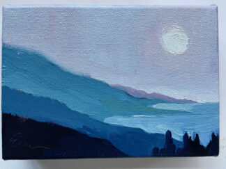 Moon, Pink Sky, Big Sur by Erin Lee Gafill