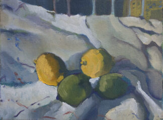 Lemons, Limes, Draped Cloth by Erin Lee Gafill