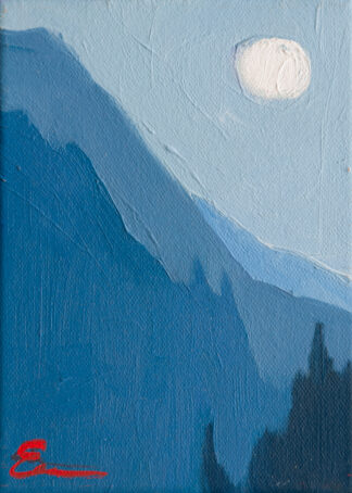 Moon over Coast by Erin Lee Gafill