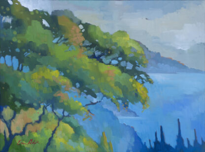 Oak Tree at Nepenthe, Quiet Day by Erin Lee Gafill