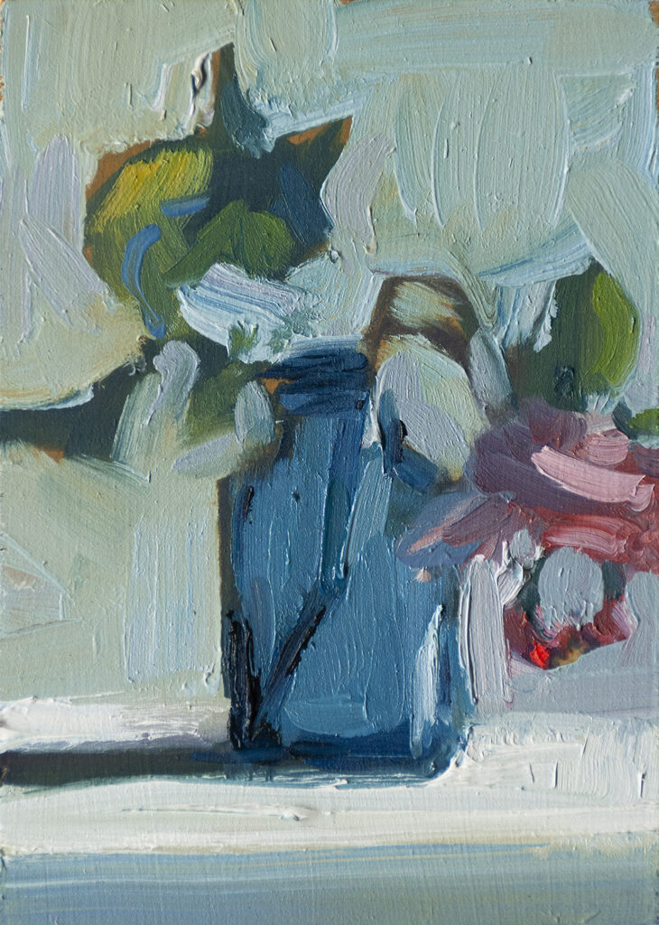 Posy in a Cobalt Jar II by Erin Lee Gafill