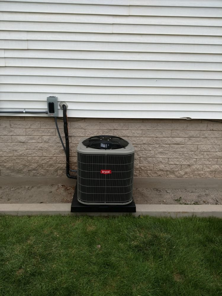 New Bryant air conditioner installed