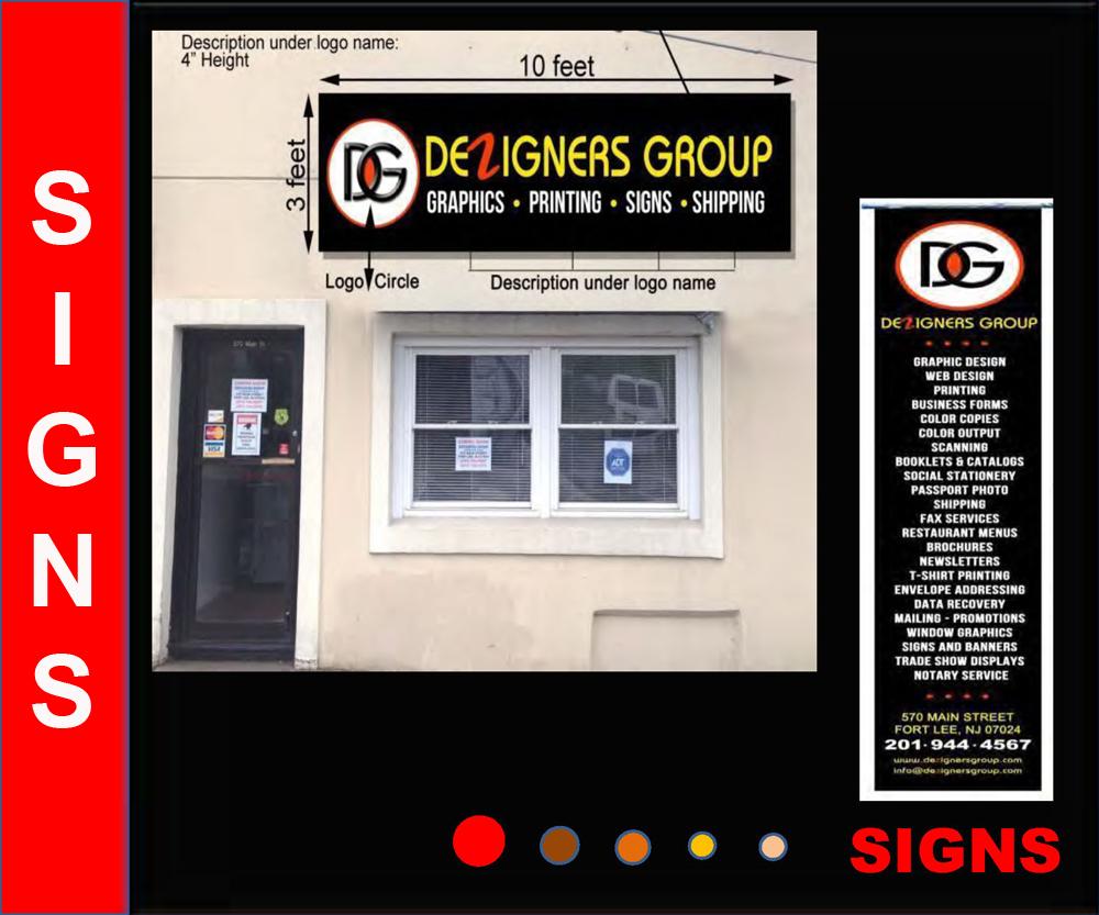 Dezignes Group sign