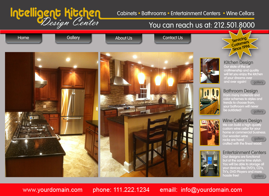 Intelligent Kitchens Website Homepage