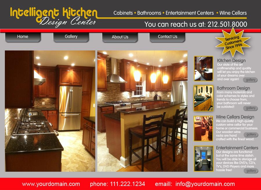 Intelligent Kitchens Website Homepage