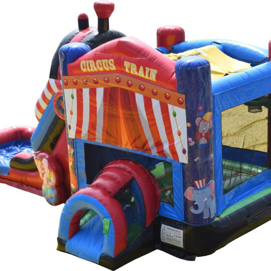 Circus Bounce House and Slide Combo
