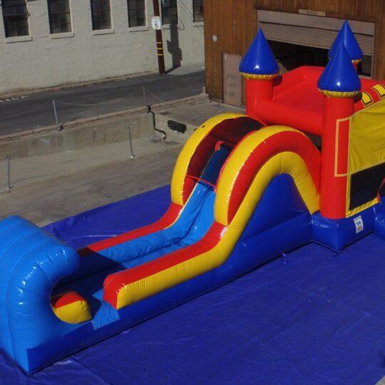 Ninja Slide and Bounce House Combo