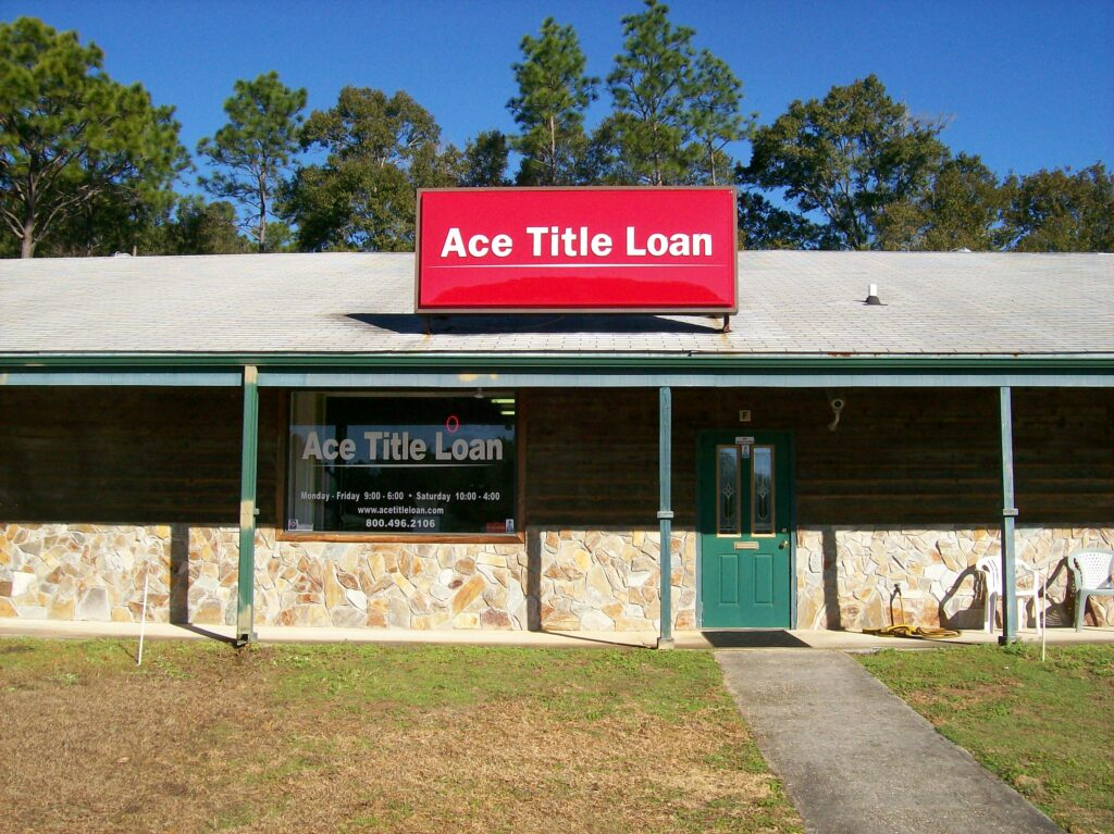 Ace Title Loan - One block past the bridge - Lillian, AL