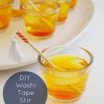DIY Washi Tape Stir Sticks