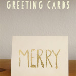 DIY Gold-leafed Greeting Cards