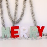 MERRY MANTLE: DIY Yarn-wrapped Letters