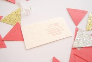 Alt Summit Business Cards, The Proper Pinwheel, Letterpress, Bears Eat Berries Press