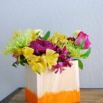 Wooden Dip-Dyed Vases