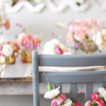 DIY \ Carnation Chair Garland