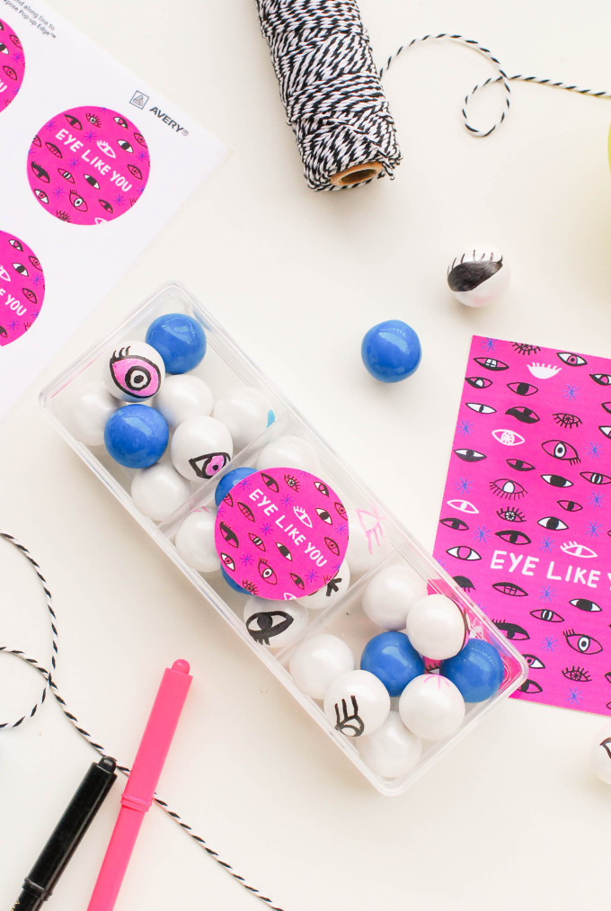 Printable Eyeball Valentines with DIY Eye Gumballs