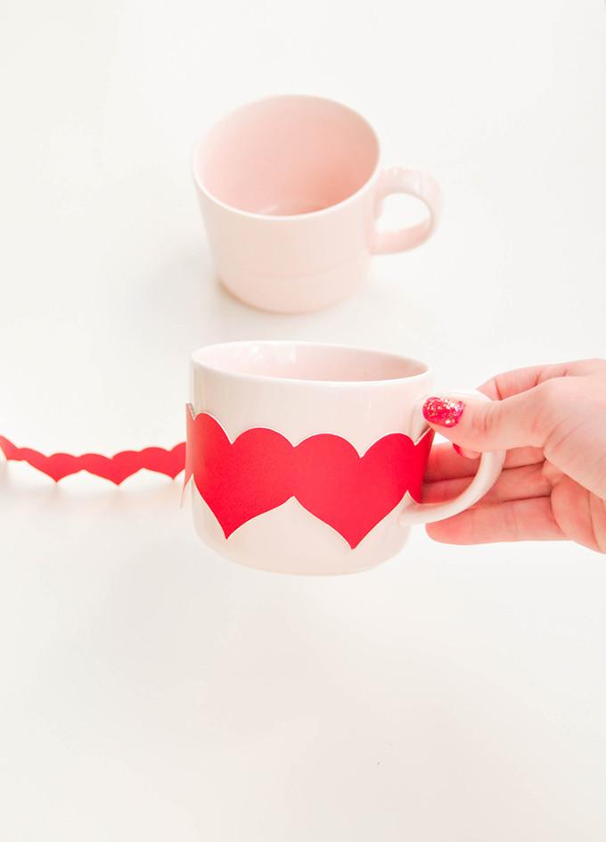 DIY HEART MUG WRAPS